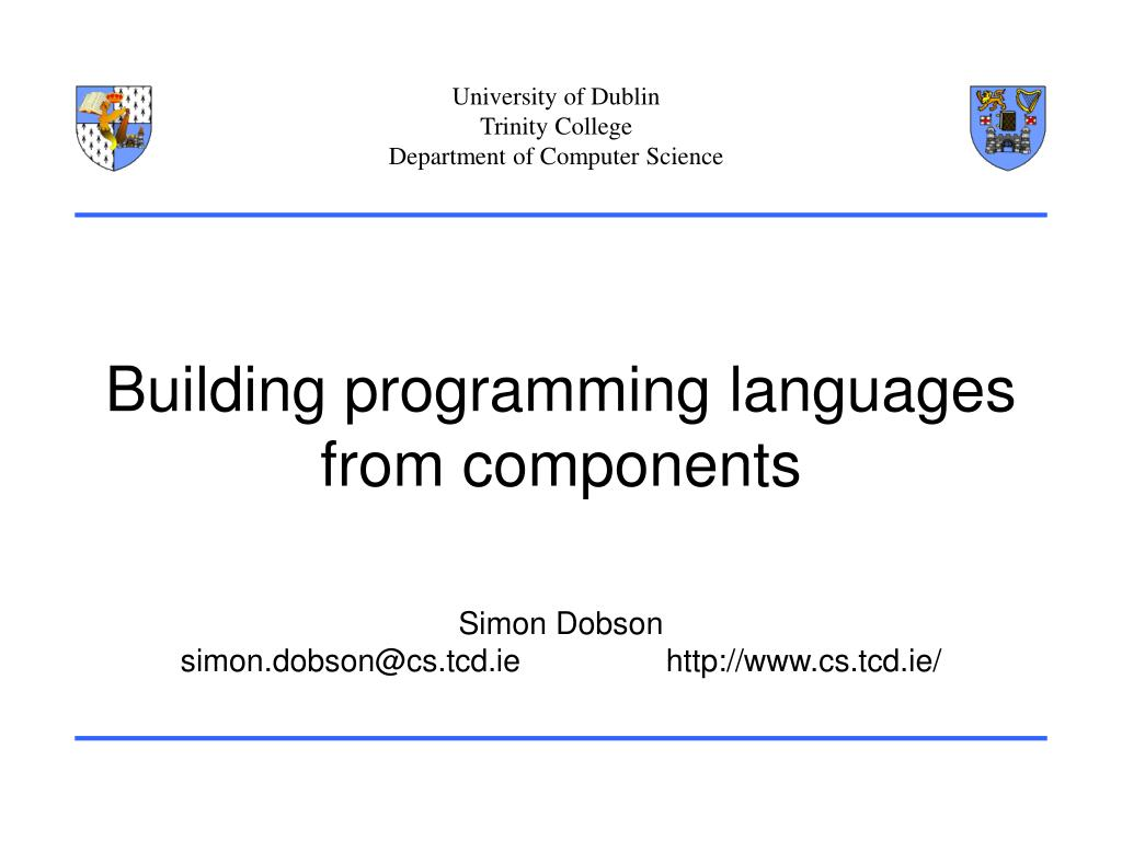 building programming languages from components l.