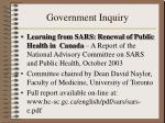 government inquiry