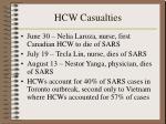 hcw casualties