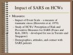 impact of sars on hcws51