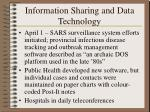 information sharing and data technology