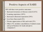 positive aspects of sars