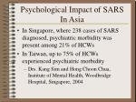 psychological impact of sars in asia