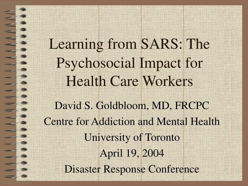 psychosocial impact for health care workers l.