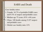 sars and death