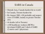 sars in canada