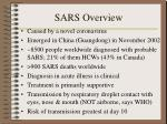 sars overview
