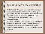 scientific advisory committee