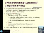 urban partnership agreements congestion pricing