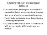 characteristics of occupational diseases