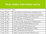 most widely held fiction works