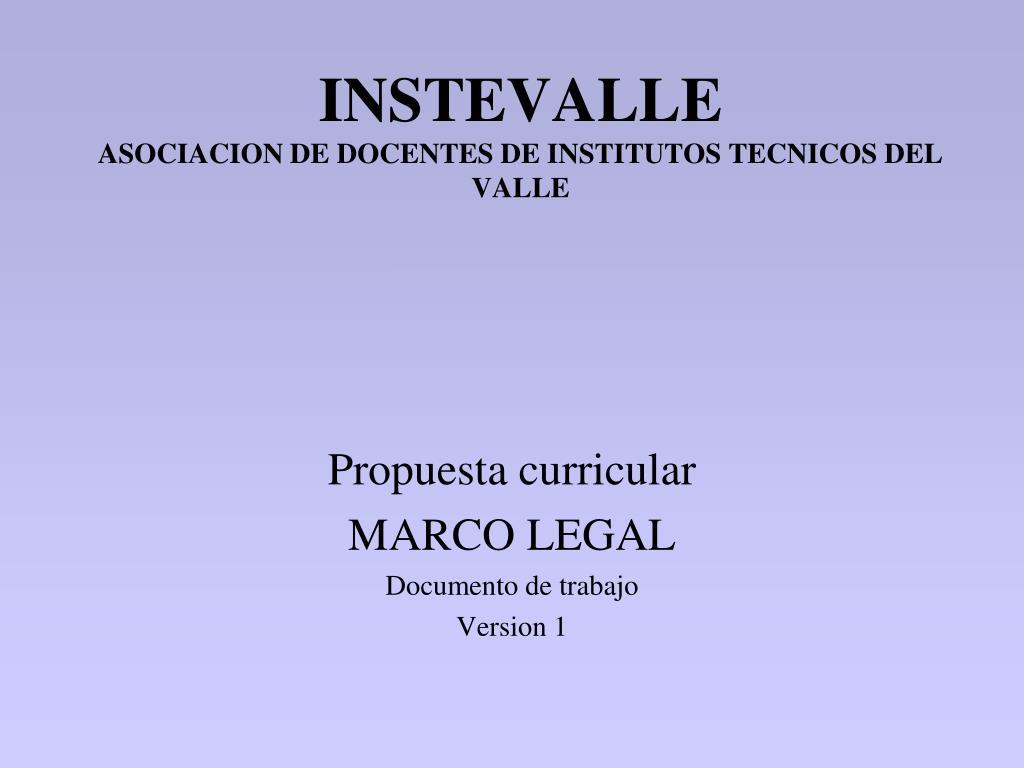 instevalle asociacion de docentes de institutos tecnicos del valle l.