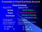 crosswalk to fixed overhead account