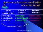 performance evaluation using flexible and master budgets
