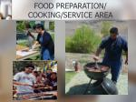 food preparation cooking service area