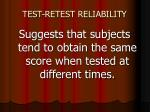 test retest reliability