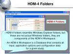 hdm 4 folders