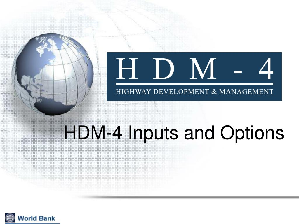 hdm 4 inputs and options l.