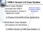 hdm 4 version 2 0 case studies