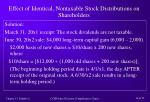 effect of identical nontaxable stock distributions on shareholders16