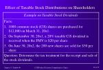 effect of taxable stock distributions on shareholders12