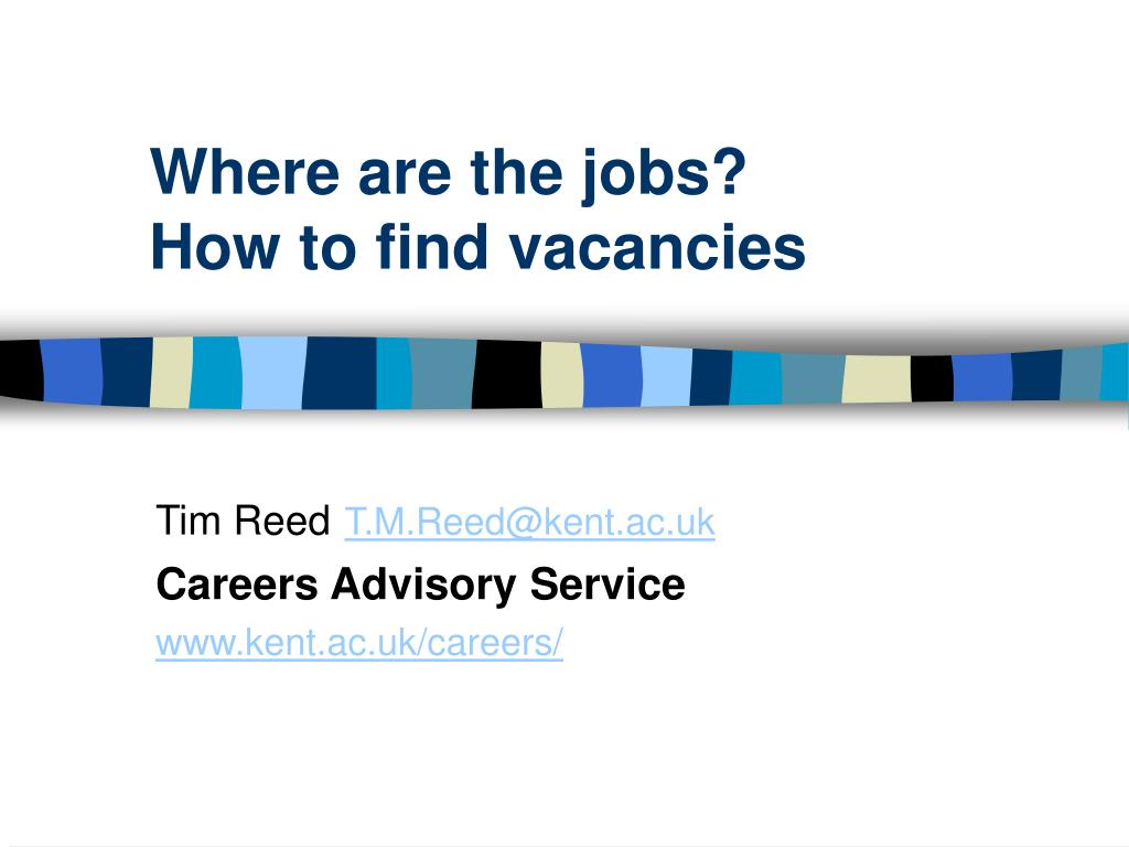 where are the jobs how to find vacancies l.