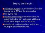 buying on margin31