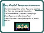 many english language learners