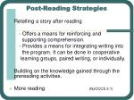 post reading strategies