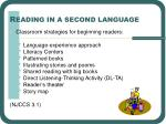 r eading in a second language