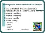 strategies to assist intermediate writers