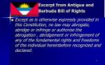 excerpt from antigua and barbuda bill of rights