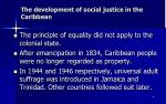 the development of social justice in the caribbean8