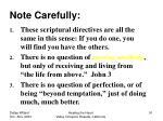 note carefully