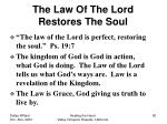 the law of the lord restores the soul