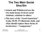 the two main social sins sin