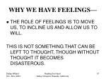 why we have feelings