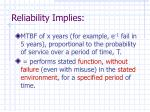 reliability implies