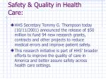 safety quality in health care