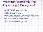 vanderbilt reliability risk engineering management