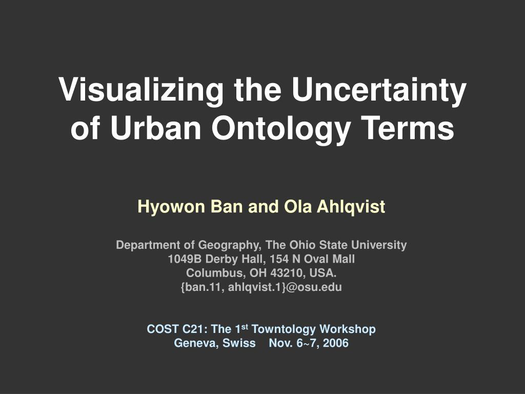 visualizing the uncertainty of urban ontology terms l.