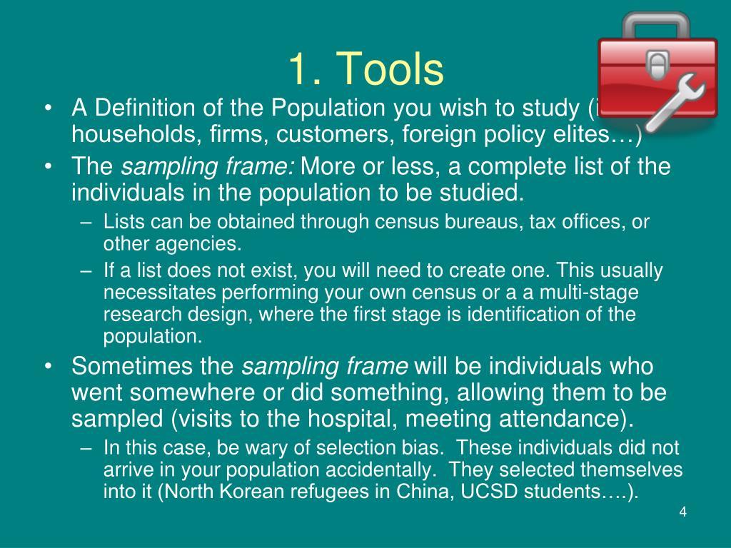 1. Tools