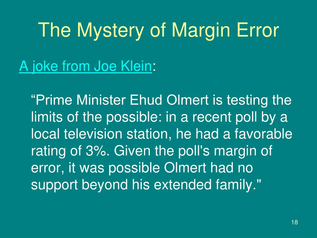 The Mystery of Margin Error