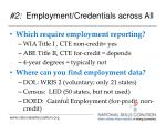 2 employment credentials across all