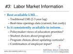 3 labor market information