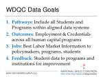 wdqc data goals