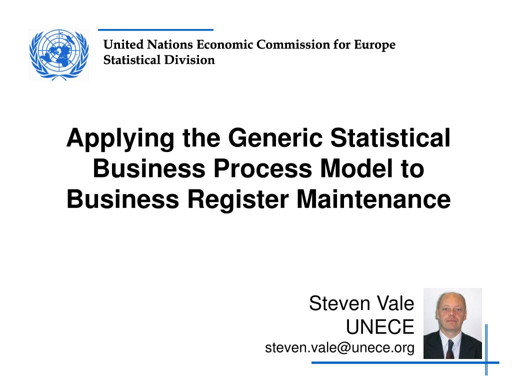 applying the generic statistical business process model to business register maintenance l.