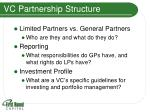 vc partnership structure