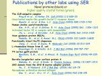 publications by other labs using ser novel proteins black or higher quality crystal forms green