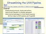 streamlining the uva pipeline